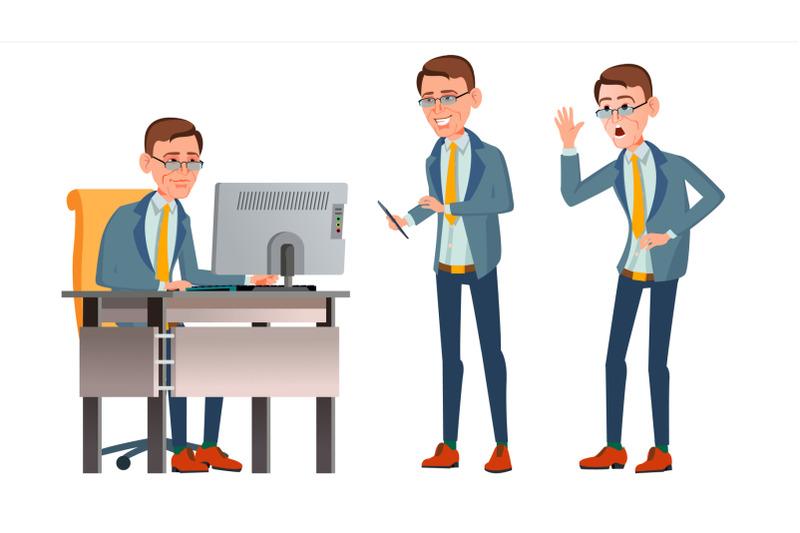 office-worker-vector-face-emotions-various-gestures-businessman-worker-happy-job-partner-clerk-servant-employee-isolated-flat-cartoon-illustration