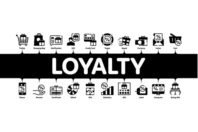 loyalty-program-minimal-infographic-banner-vector