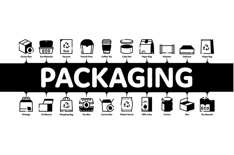 Packaging Minimal Infographic Banner Vector By Pikepicture