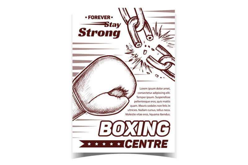 boxing-sport-centre-advertising-banner-vector