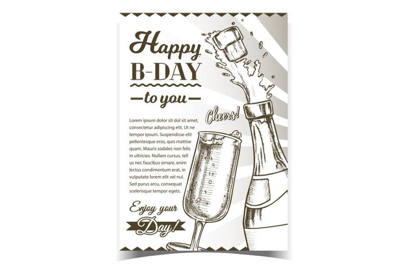 happy-b-day-champagne-congratulation-poster-vector