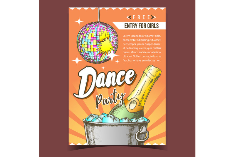dance-party-with-alcohol-advertising-poster-vector