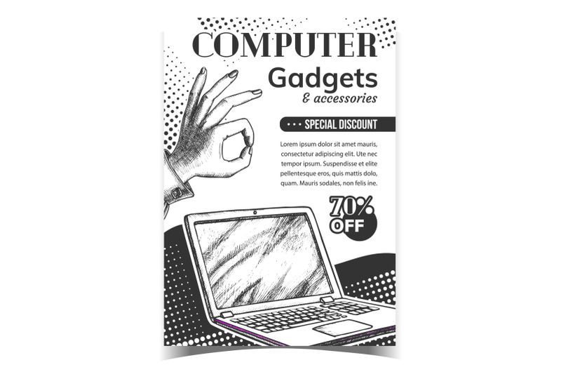 computer-gadgets-creative-advertise-banner-vector