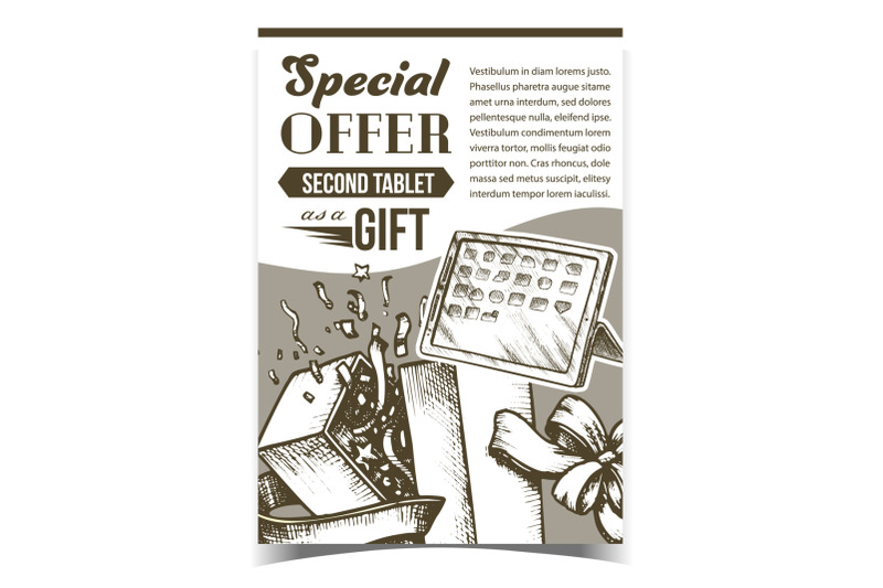 special-offer-gift-box-advertise-poster-vector