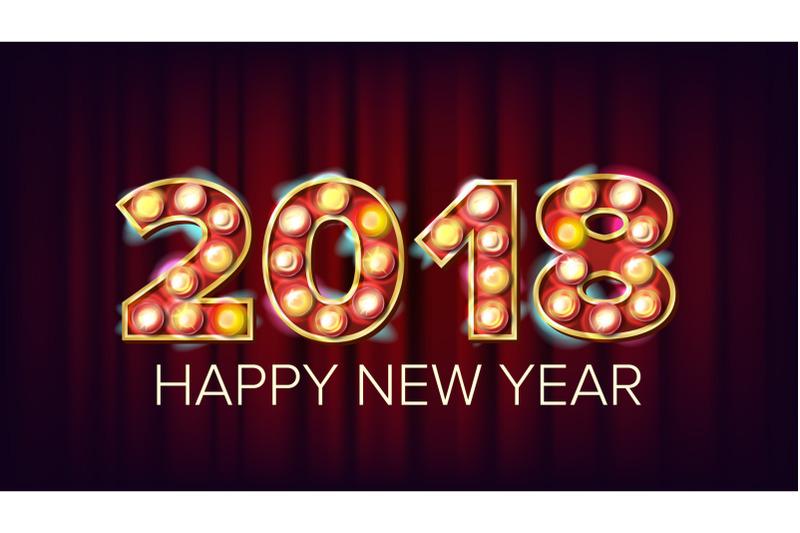 2018-happy-new-year-vector-background-decoration-greeting-card-design-2018-light-sign-holiday-retro-shine-lamp-bulb-2018-illuminated-illustration