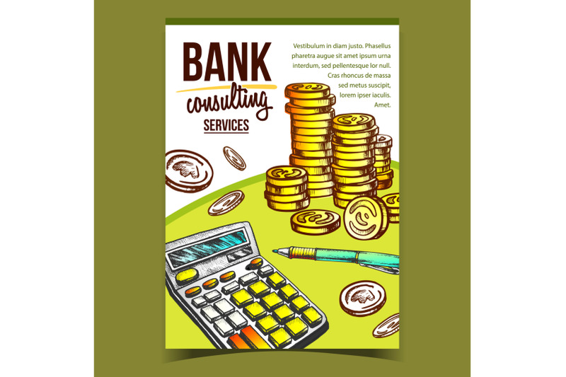 bank-consulting-services-advertising-poster-vector