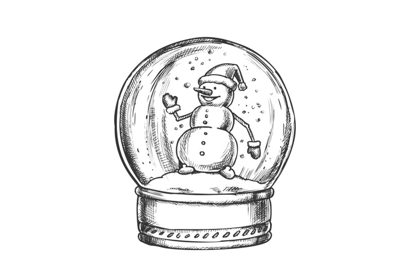 snow-globe-with-snowman-souvenir-vintage-vector