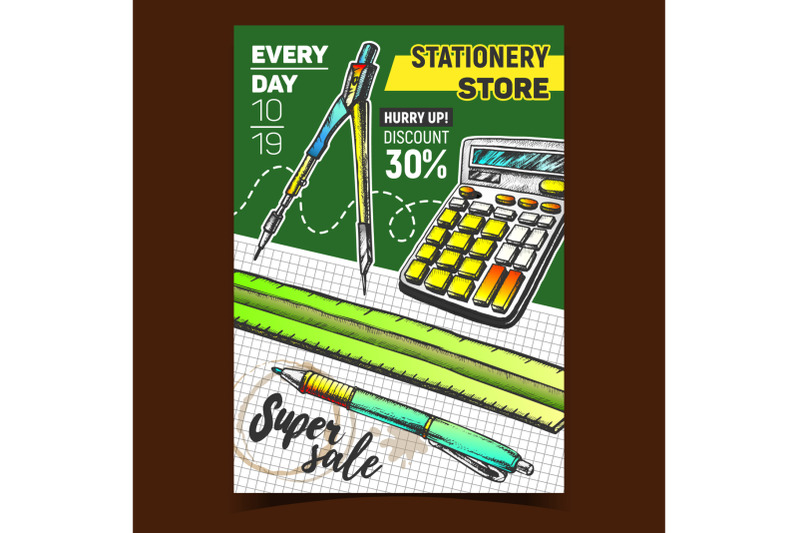 stationery-store-sale-advertising-poster-vector