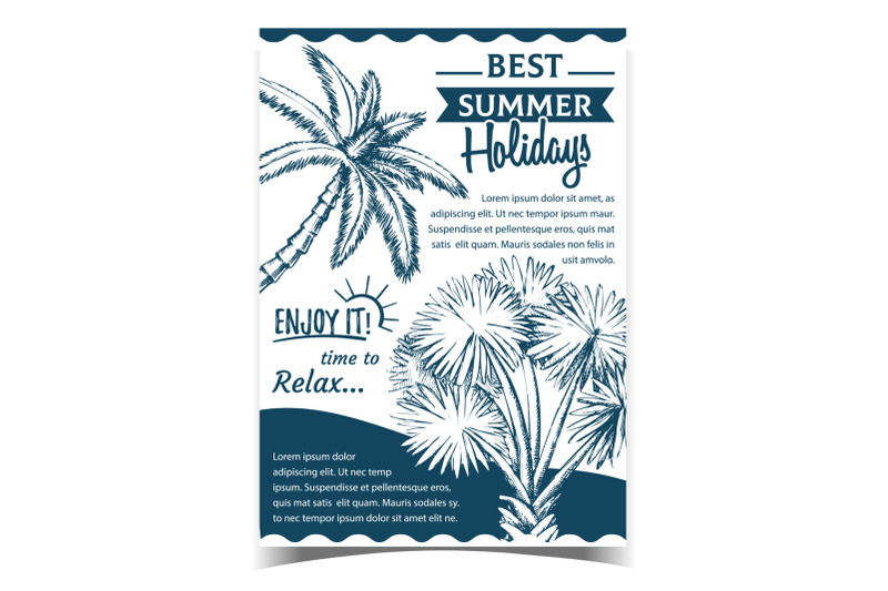 palm-decorative-trees-on-advertising-poster-vector