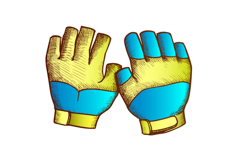 gloves-for-surfing-and-diving-color-vector