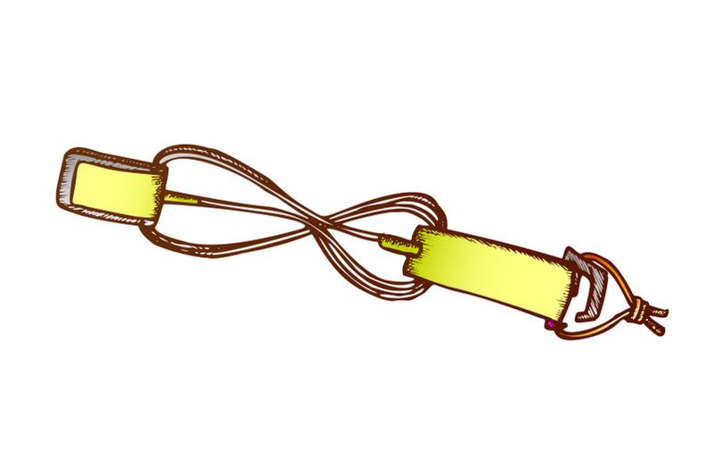 surf-belt-for-carry-surfboard-color-vector