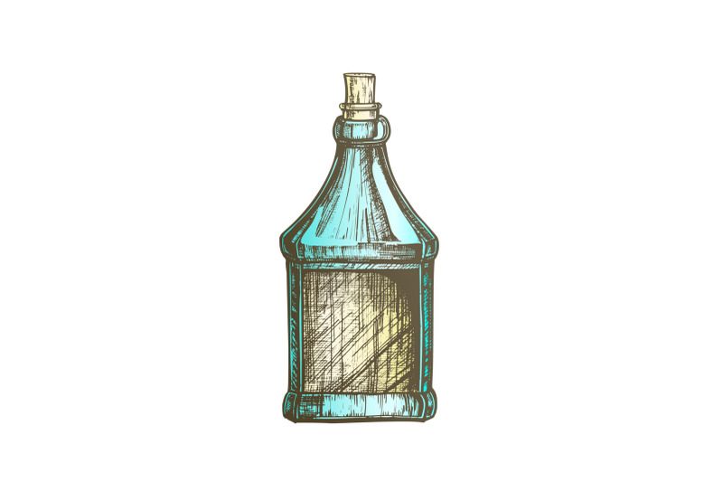 color-drawn-blank-bottle-of-scotch-with-cork-cap-vector