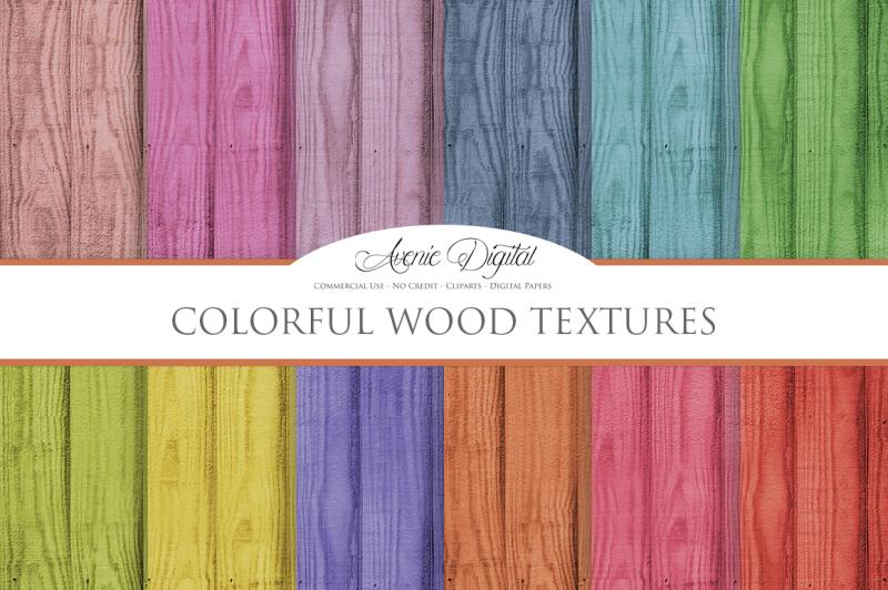 colorful-wood-digital-paper
