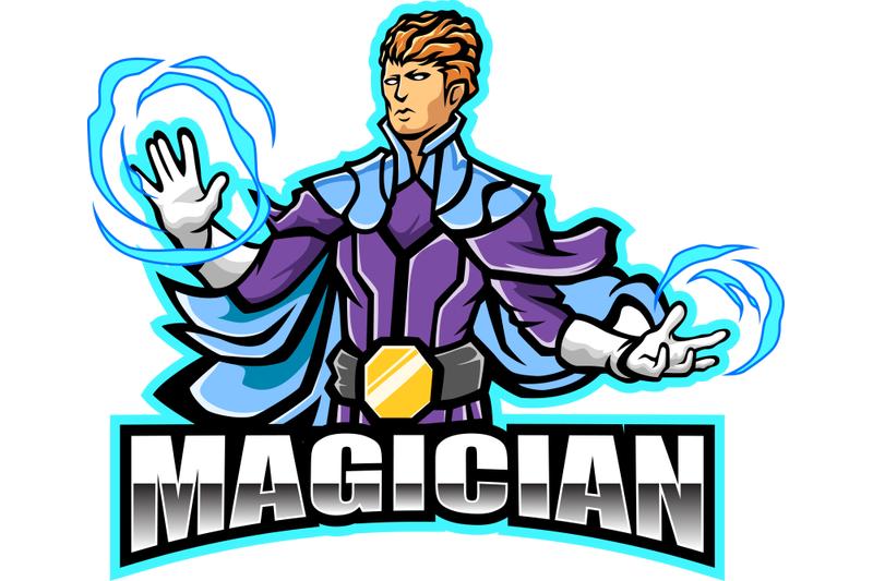 magician-esport-mascot-logo