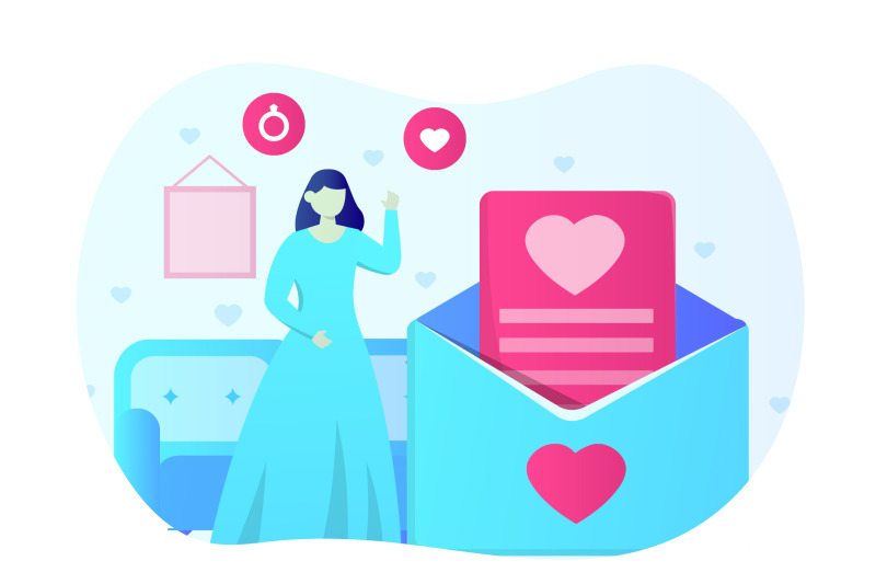 wedding-invitation-flat-illustration