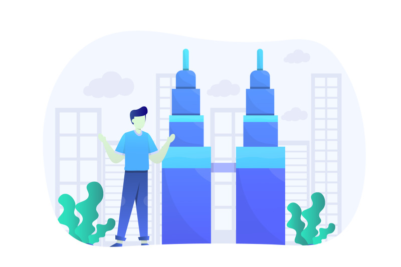 twin-towers-flat-design