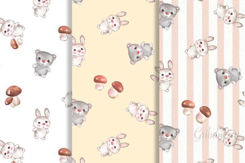 cute-animals-3-seamless-patterns