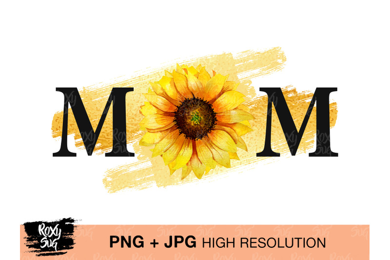 watercolor-mom-design-sunflower-sublimation-design