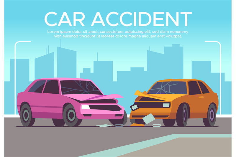car-accident-traffic-collision-on-crossroads-drivers-waiting-police