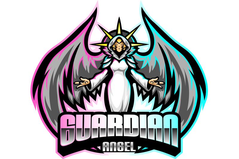 guardian-angel-esport-mascot-logo