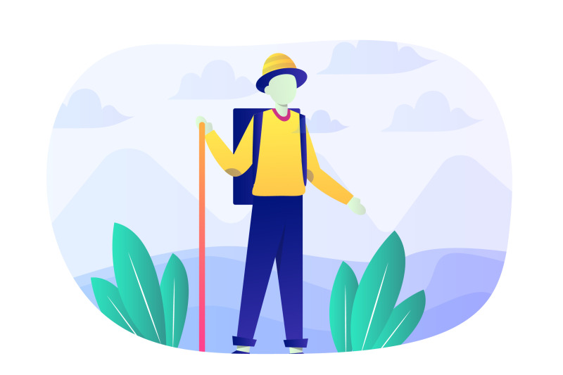 hiking-flat-illustration
