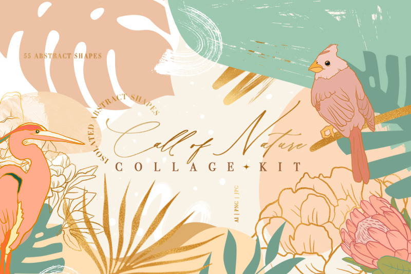 call-of-nature-collage-kit