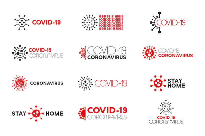 covid-19-coronavirus-creative-logos