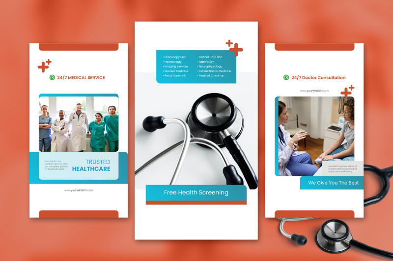 medical-social-media-story-template-with-red-color-theme