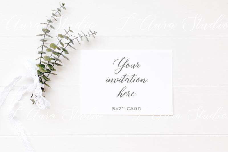 Download Wedding card mockup - 5x7 inch Free Mockups