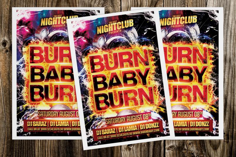 burn-baby-burn-party-flyer