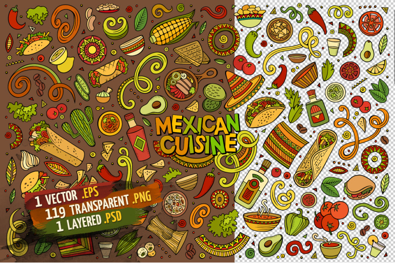 mexican-food-objects-amp-elements-set