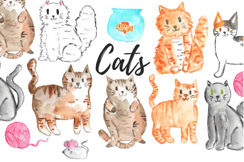 watercolor-cat-clip-art