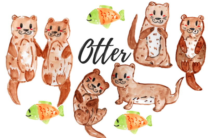 watercolor-otter-clipart