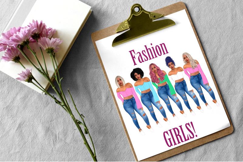 fashion-girl-clipart-afro-girls-clipart-curvy-girl-clipart