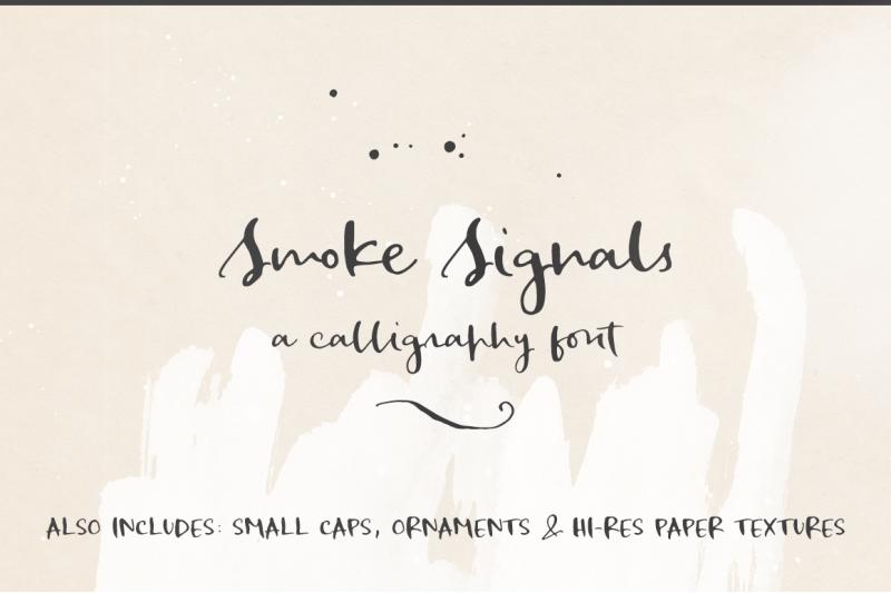 smoke-signals-script-font-and-extras
