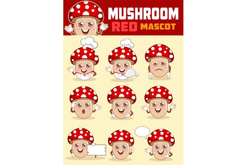 mushroom-mascot-cartoon
