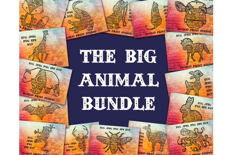 mandala-style-30-animal-svg-bundle-zentangle-svg-boho-svg