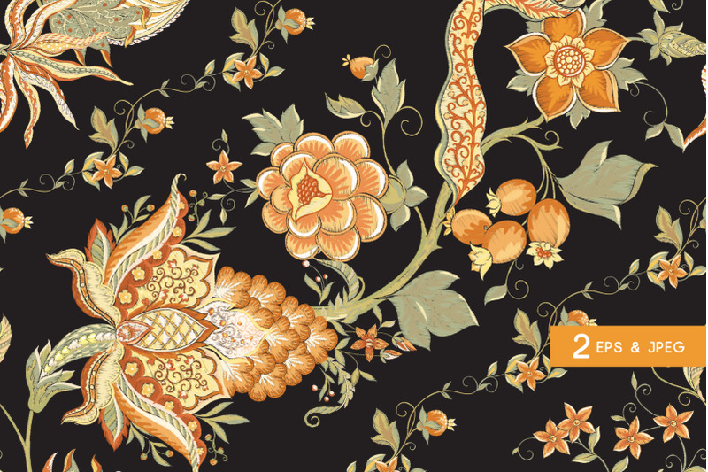 fantasy-flowers-traditional-jacobean-embroidery-style