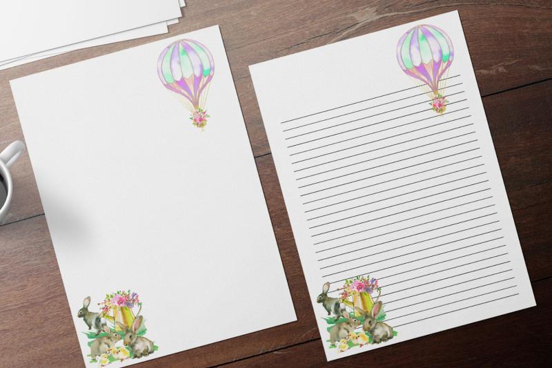 romantic-hot-air-ballon-watercolor-floral-stationary-flowers-digital
