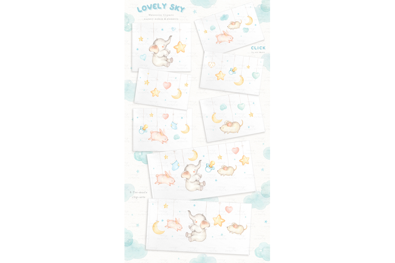 lovely-sky-watercolor-clip-arts