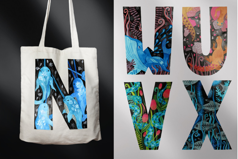 animal-alphabet-hand-painted-letters