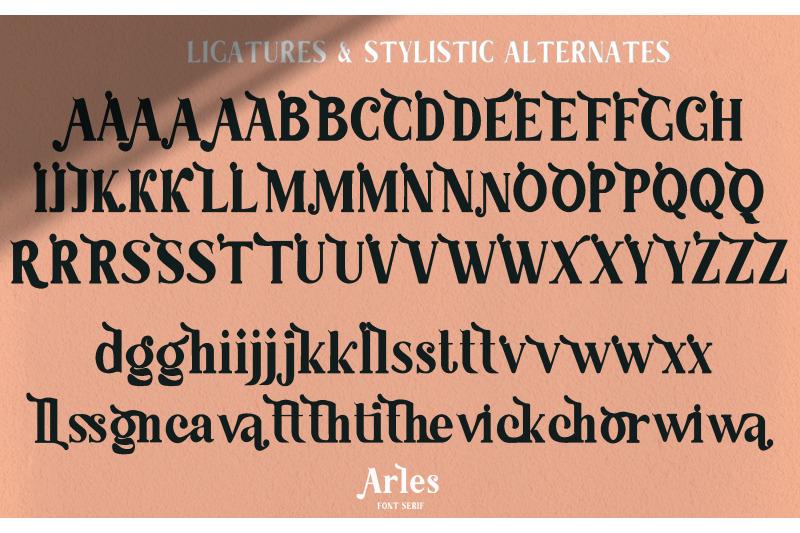 arles-serif-font
