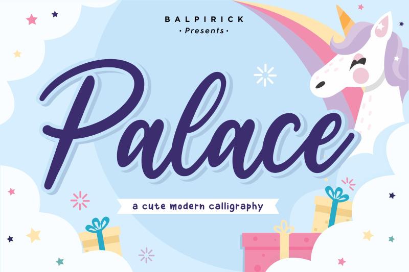 palace-cute-modern-calligraphy-font