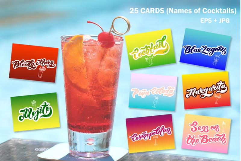 cocktail-party-set-lettering