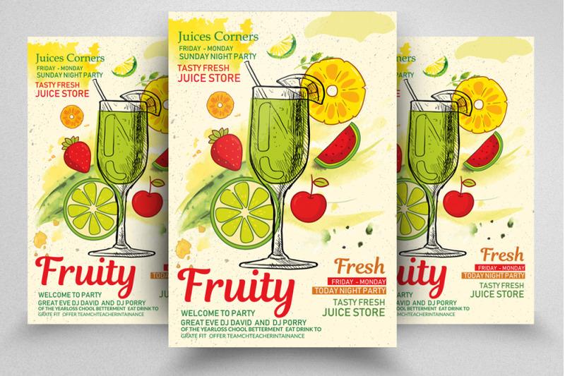 fresh-fruits-corner-flyer-template