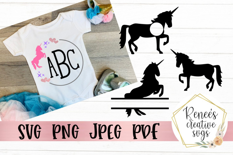 unicorn-monogram-set