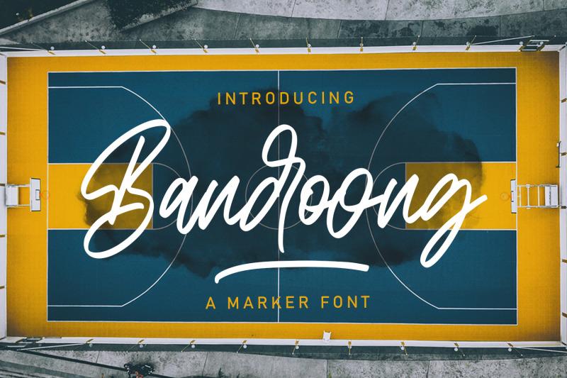 bandoong-modern-script-font