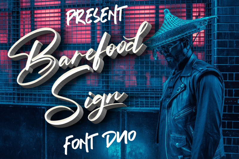 barefood-sign-font-combination