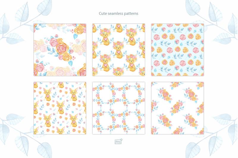 watercolor-cute-fox-cliparts
