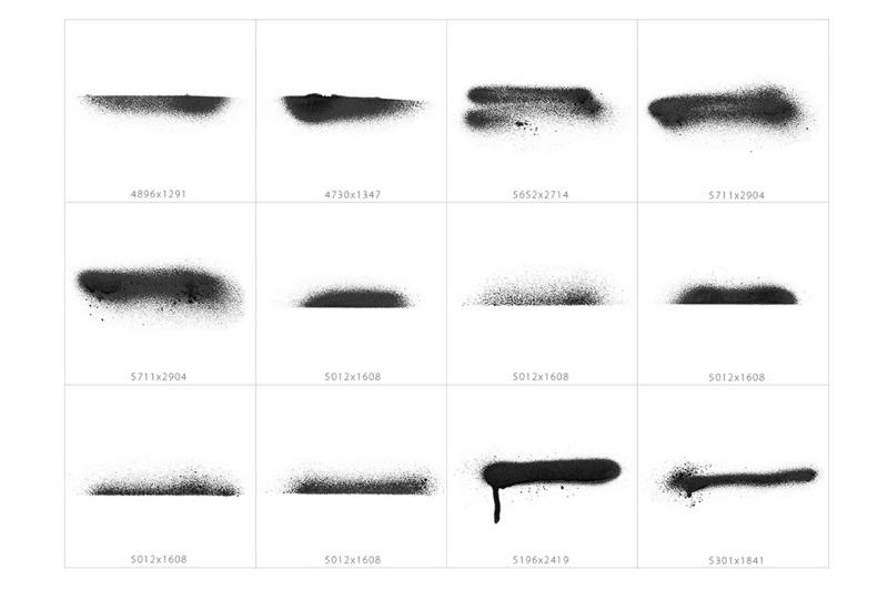 stroke-spray-shapes